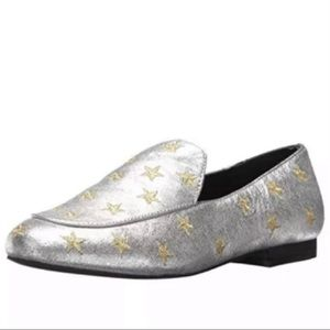 Kenneth Cole Westley Silver and Gold Star Loafers